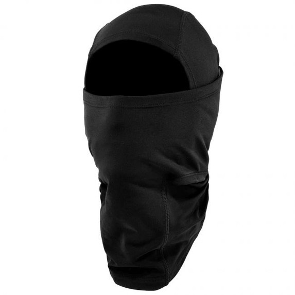 Ergodyne N-Ferno 6838 Solar-Activated Dual-Layer Balaclava, Black, at Harmony Lab & Safety Supplies (Both layers up)