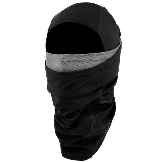 Ergodyne N-Ferno 6838 Solar-Activated Dual-Layer Balaclava, Black, at Harmony Lab & Safety Supplies (Half and Half Layers)