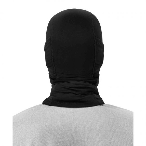 Ergodyne N-Ferno 6838 Solar-Activated Dual-Layer Balaclava, Black, at Harmony Lab & Safety Supplies (Back view)