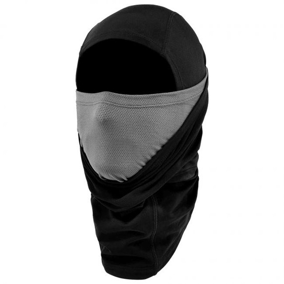 Ergodyne N-Ferno 6838 Solar-Activated Dual-Layer Balaclava, Black, at Harmony Lab & Safety Supplies (Inner layer up)