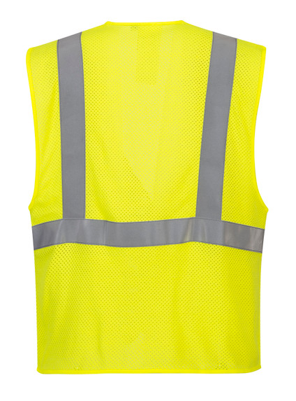 Portwest UMV21 CAT 1 Arc Rated Flame Resistant Mesh Safety Vest, Yellow by Harmony Lab & Safety Supplies