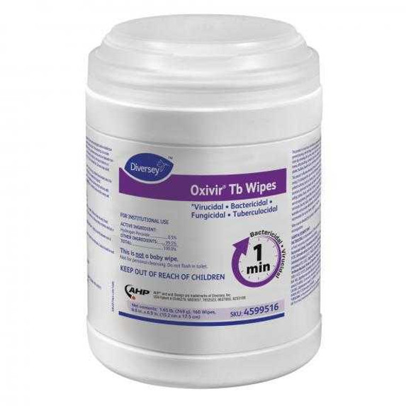 """Get Diversey Oxivir Tb Disinfectant Wipes, 6"""" x 7"""", 160/tub (SDVO4599516) at Harmony Lab & Safety Supplies"""