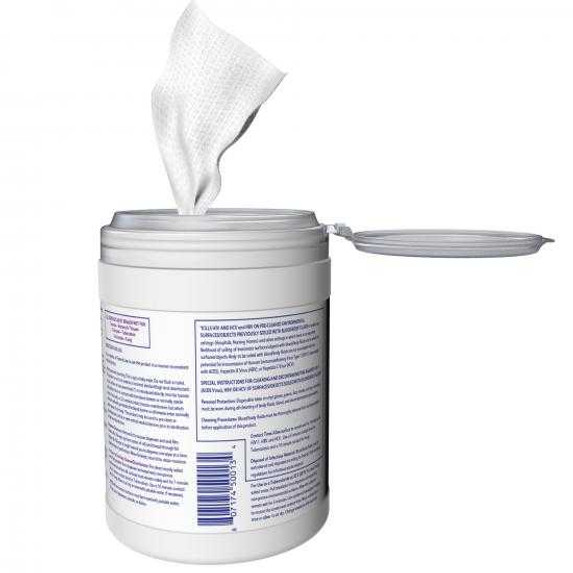 """Get Diversey Oxivir Tb Disinfectant Wipes, 6"""" x 7"""", 160/tub (SDVO4599516) at Harmony Lab & Safety Supplies (back view)"""