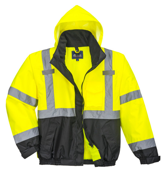 Portwest US365YBR Class 3 Hi-Vis Premium 3-in-1 Bomber Jacket by Harmony Lab & Safety Supplies.