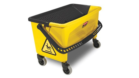 Rubbermaid Commercial Microfiber Press Wring Bucket (FGQ90088YEL)| Harmony Lab and Safety Supplies
