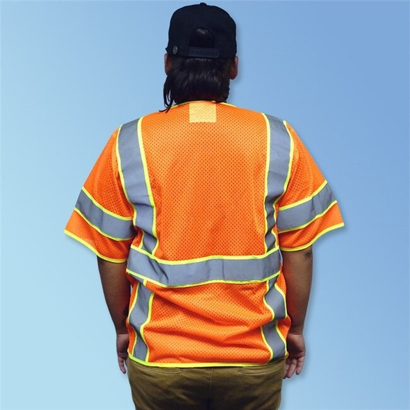 HivizGard ANSI Class 3 Mesh Safety Vest w/Sleeves