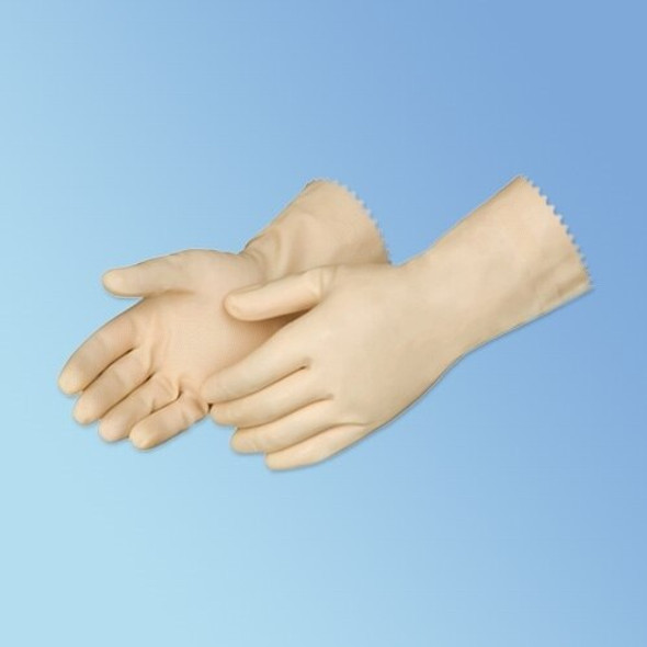 "Get 12"" Natural Latex Canners Glove, Unlined, 18 mil, 12/pr LIB2880I at Harmony"