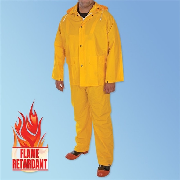 Get 3 Layer PVC/POLY/PVC Yellow 3-Piece Rain Suit, ea LB-FR1340 at Harmony