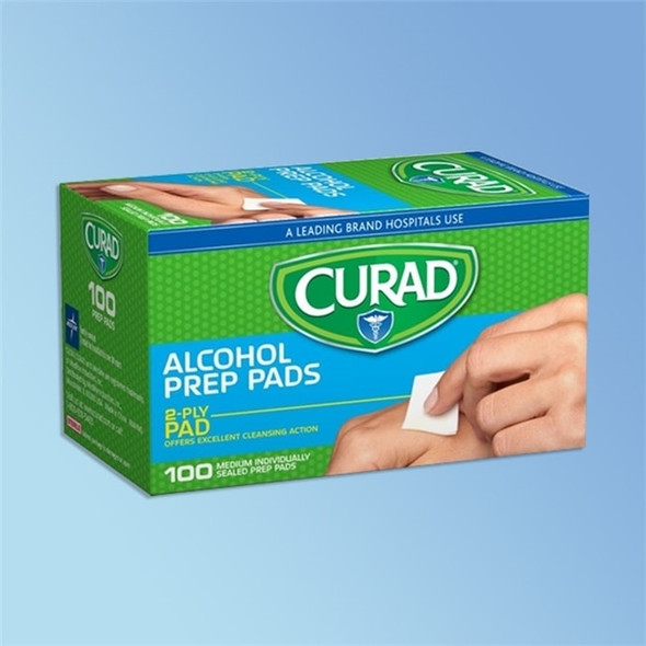 Get CURAD Sterile Alcohol Pads, 100/box CUR090737RB at Harmony