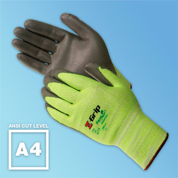 Z Grip Hi-Vis ANSI A4 Cut Resistant Glove - Harmony Lab & Safety Supplies