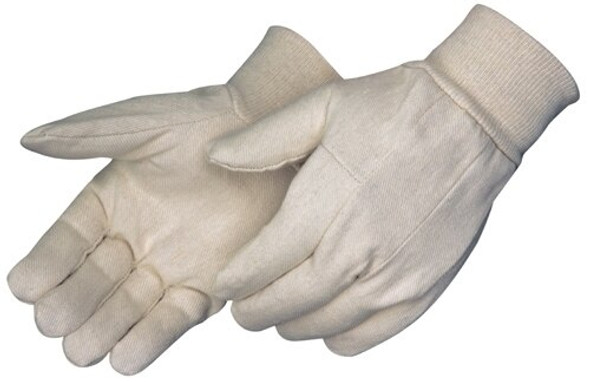 Get Cotton Canvas Glove, Straight Thumb, Knit Wrist, 12/pr LIB4501 at Harmony