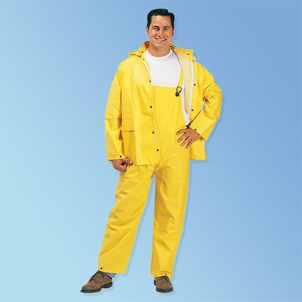 Get 2 Layer PVC/Polyester Yellow 3-Piece Rain Suit, ea LIB1220 at Harmony