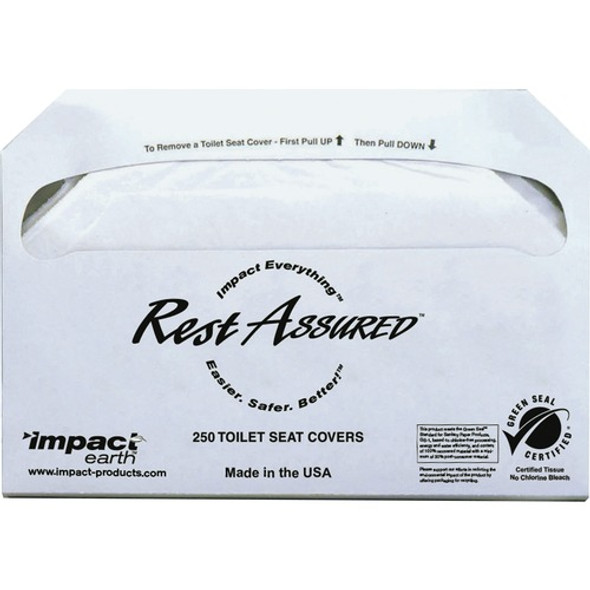 Get Impact Products Toilet Seat Covers, 250/pack, 4 ea/ case 1000 /carton at Harmony Lab & Safety Supplies.
