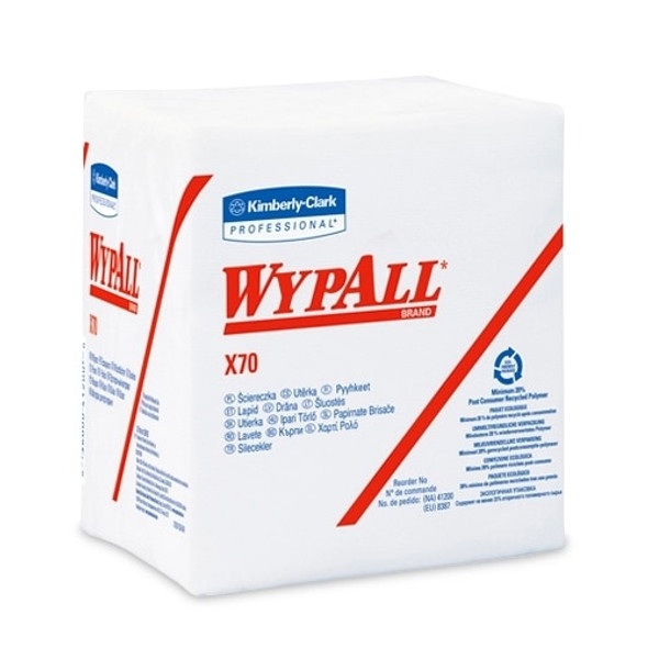 "Get Wypall X70 1/4-Fold White Wipes, 12.5"" x 12"", 12 packs/case L41200 at Harmony"