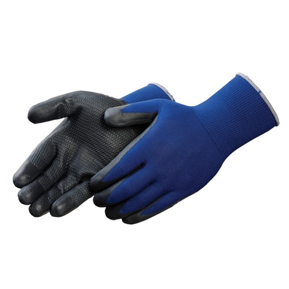 Get Showa Atlas 380 Nitrile Foam Coated Grip Glove, Black/Blue, 12/pair LIB380 at Harmony