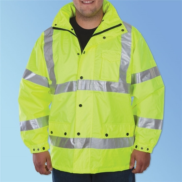 Get HivizGard Class 3 Windbreaker, Lime Green, ea LB16720G at Harmony