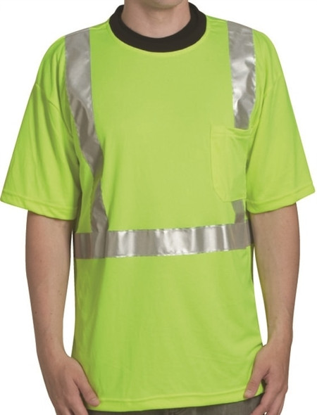 Get HivizGard Class 2 Mesh Safety T-Shirt, Short Sleeves, Lime Green LIBC16600G at Harmony