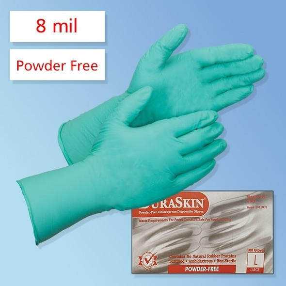 "Get DuraSkin 12"" Green 8 mil Chloroprene Gloves LB2012W at Harmony"