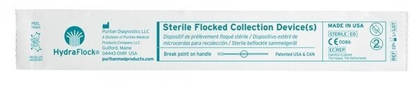Sterile HydraFlock Flocked Swab, Elongated Tip, No Breakpoint, 500/case