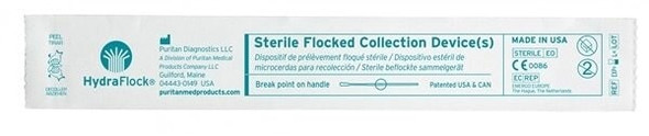 "Sterile HydraFlock Swab, Elongated Tip, 6"" Polystyrene Shaft, Breakpoint 100mm, 500/case"