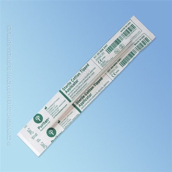 Puritan Sterile Cotton Swab, 6 in., Wood Shaft