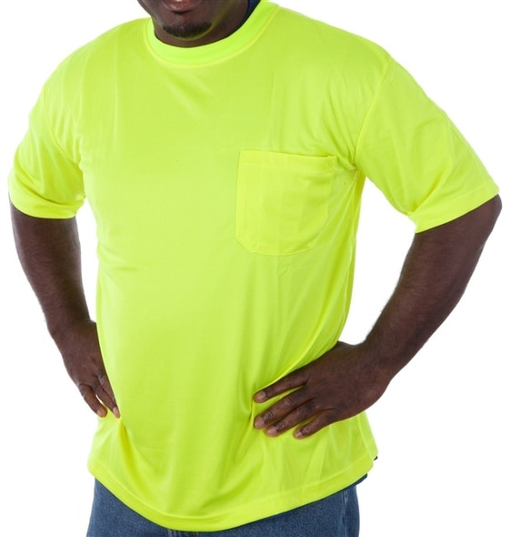 Get Fluorescent Lime Green Mesh T-Shirt, Short Sleeve LIBN16600G at Harmony