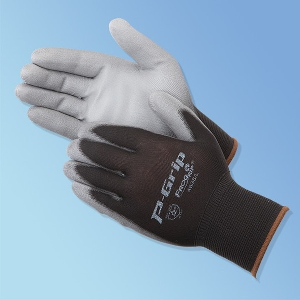 Get P-Grip Polyurethane Coated Glove, Gray/Black, 12/pairs LB4638 at Harmony