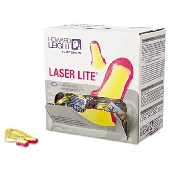 Howard Leight LL-30 Laser Lite Corded Ear Plugs, 32 NRR, 100/box
