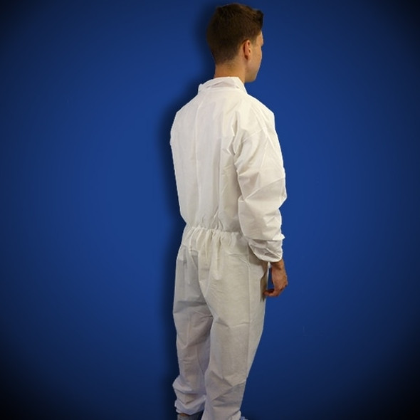 Keystone (CVL-SMS-E) White SMS Coveralls with elastic wrist and ankles