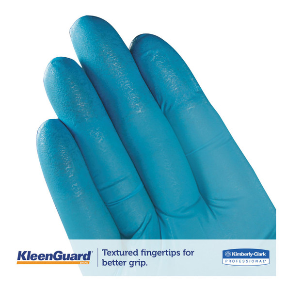 Kleenguard G10 Blue Nitrile Food Service/General Purpose Gloves, 6 mil, Powder Free