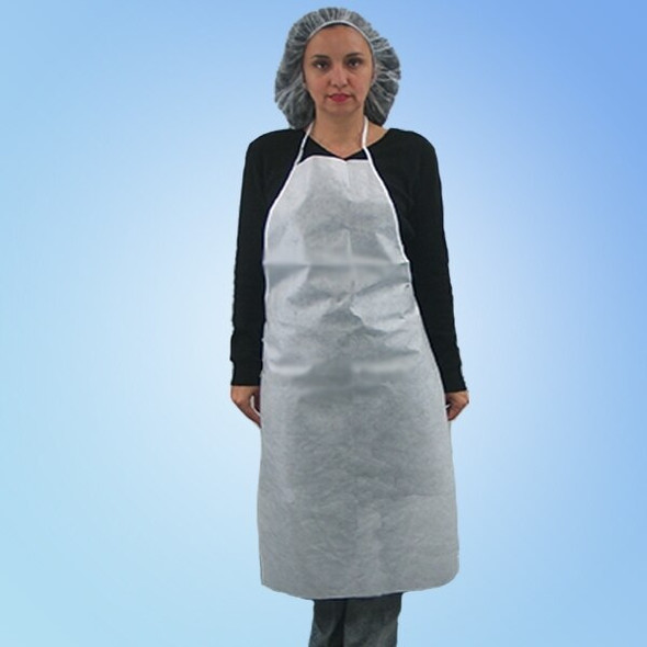 Keyguard Microporous Apron, 28 x 36 in., 100/case | Harmony Lab and Safety Supplies