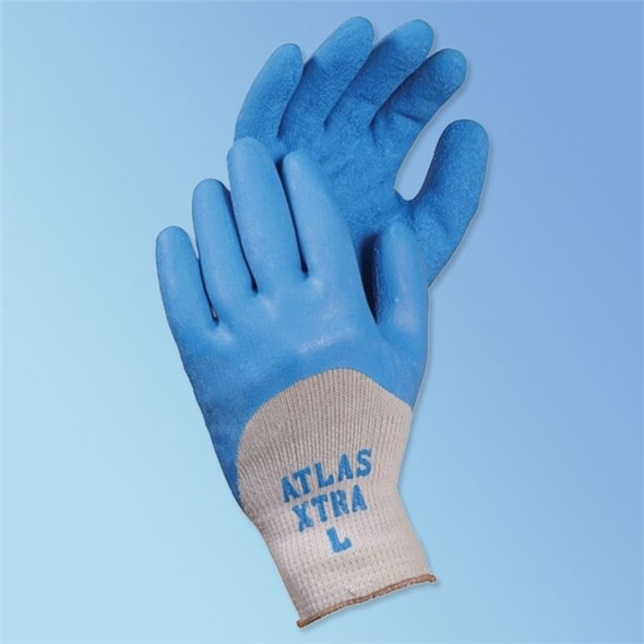 Get Showa Atlas Xtra Textured Latex Coated Glove, Blue/Gray, 12/pair LIB305 at Harmony