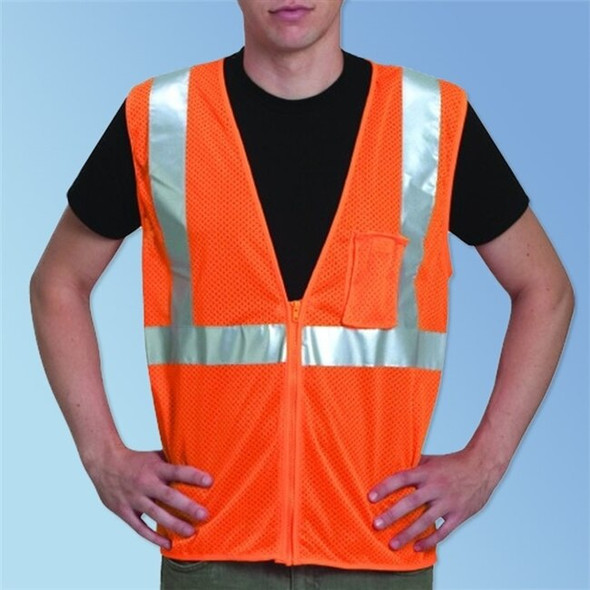 Get HivizGard Class 2 Mesh Safety Vest, Orange LBC16002F at Harmony