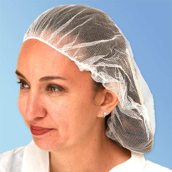 Honeycomb Disposable Hair Nets, blue, white, brown, or blue