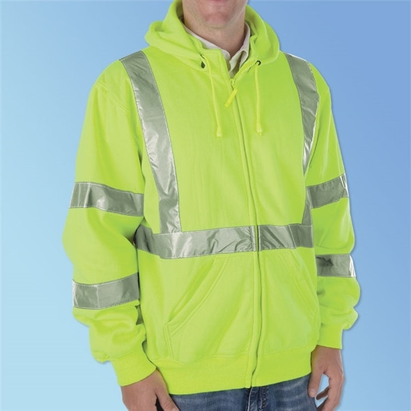 Get HivizGard Class 3 Safety Sweatshirt, Lime Green, ea LB16724G at Harmony