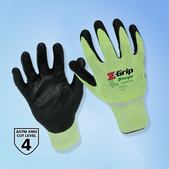 Z-Grip Fluorescent Nitrile Palm Coated Gloves