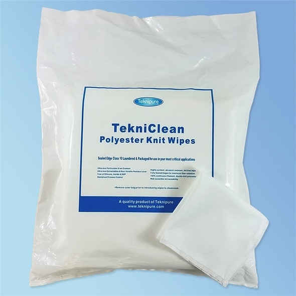 Tekniclean Polyester Knit Cleanroom Wipe with Ultrasonic Sealed Borders