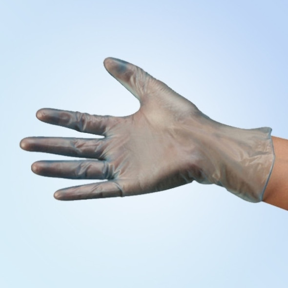 DuraSkin Blue Vinyl Food Service/General Purpose Gloves, 4 mil, Powder Free, 1000/case | Harmony Lab and Safety Supplies