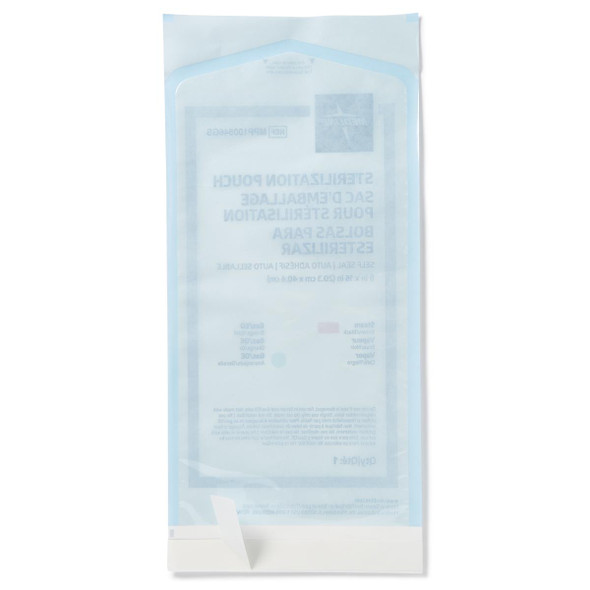 Medline MPP100546GS Self-Seal Sterilization Pouches for Steam and Gas Only, 8 x 16 in., 200/box | Harmony Lab and Safety Supplies
