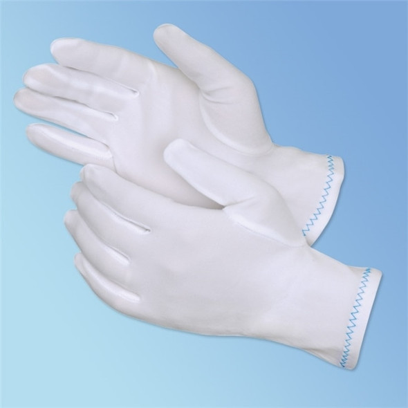 Get Full Fashion Nylon Inspection Gloves, 12 pairs LB4611 at Harmony