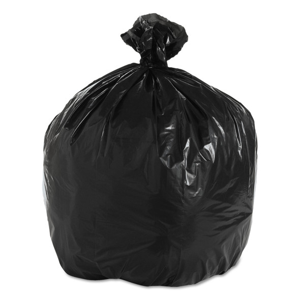 Genuine Joe 01533 Black Trash Can Liners, 33 x 40 in., 33 gal., 1.5 mil, 100/case | Harmony Lab and Safety Supplies