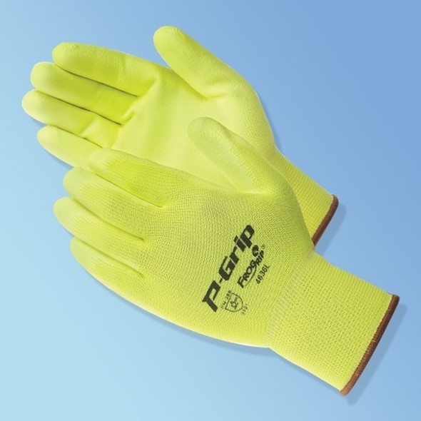 Get P-Grip Polyurethane Coated Glove, Fluorescent Yellow, 12/pair LIB4636 at Harmony