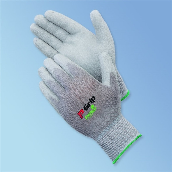 Get P-Grip Polyurethane Coated Glove, Gray/Gray, 12/pair LIB4639G at Harmony