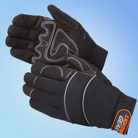 Get Onyx Warrior Mechanic's Gloves, Black, 1 pair LB0915BK at Harmony