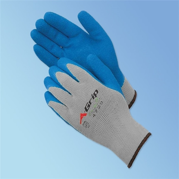 Get A-Grip Latex Coated Glove, Blue/Gray, 12/pair LIB4729G at Harmony