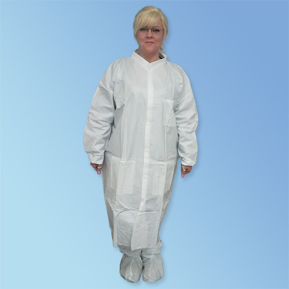 Get KeyGuard ISO 6 Cleanroom Microporous Lab Coat, Elastic Wrist, 3 Pockets, White, 30/cs T252-CE at Harmony