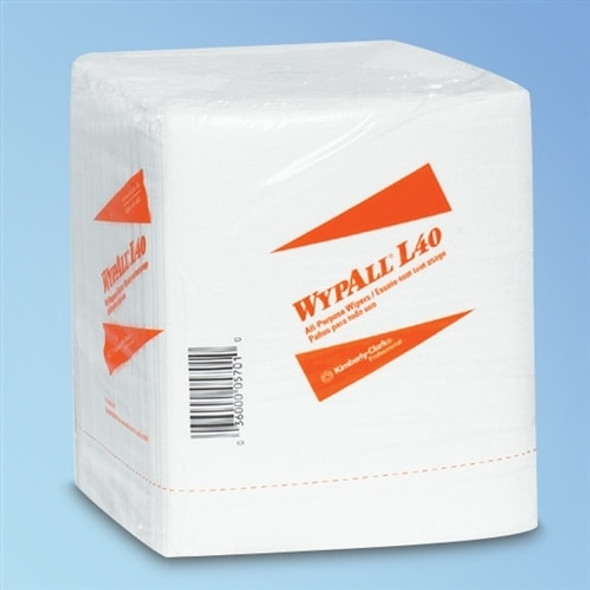 "Get Wypall L40 1/4-Fold White Wipes, 12.5"" x 12"", 18 packs/case L05701 at Harmony"