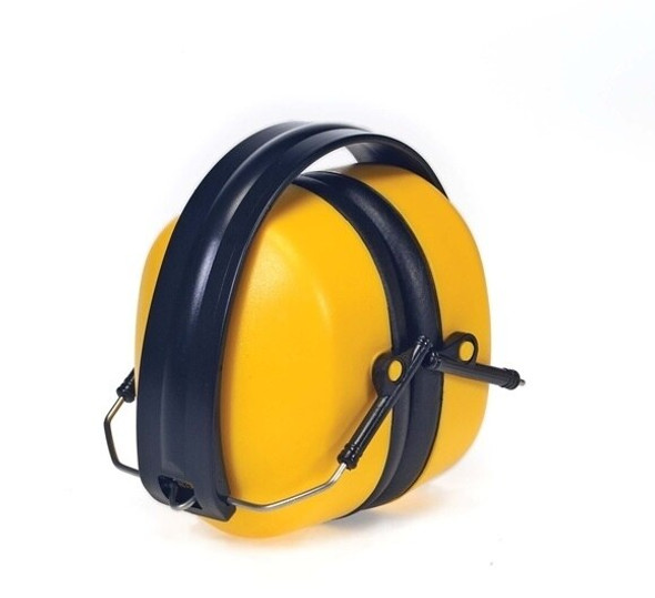 Foldable Ear Muffs, NRR 34, Yellow, each