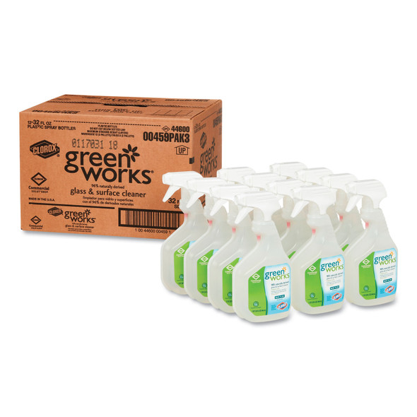 Get Green Works Glass & Surface Cleaner, 32 oz., 12/case L00459 at Harmony