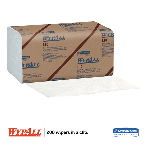 "Get Wypall L10 Sani-Prep Dairy Towels, 9.3"" x 10.5"", 2400/case L01770 at Harmony"